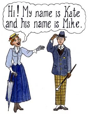 My name is ... His name is ... Иллюстрация к уроку английского языка
